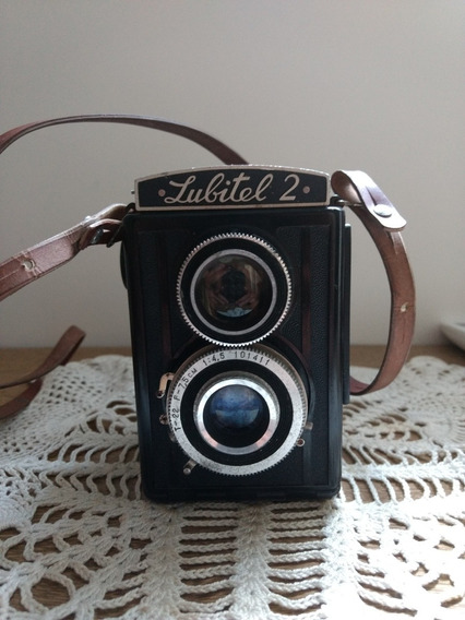 Câmera Antiga Lubitel 2, Para Decoração Ou Coleção