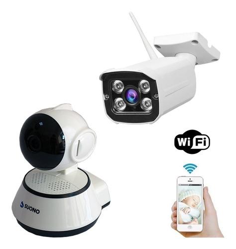 Kit Monitoreo X2 Camaras Ip Inalambricas Seguridad Wifi 360
