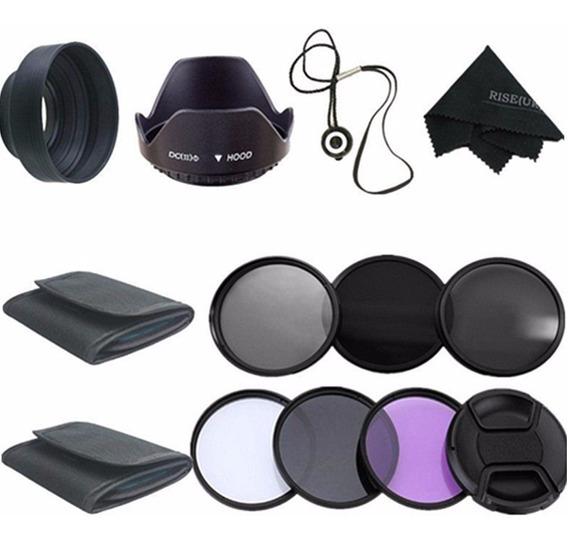 58mm Uv Cpl Polarizador Nd2 4 8 Kit Filtro Para Canon Eos 60