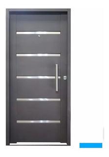 Puertas Inyectadas Frentes Exterior Nueva Moderna Doble 80