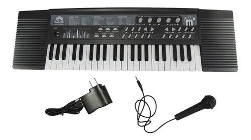 Piano Organeta Eléctrica Usb Mp3 44 Teclas Musica + Microfon