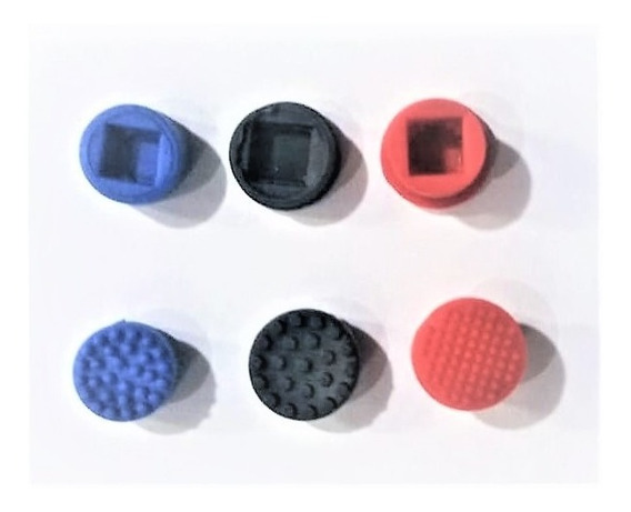 Kit 3 Trackpoint Mouse Botão 1 De Cada Azul Preto E Vermalho