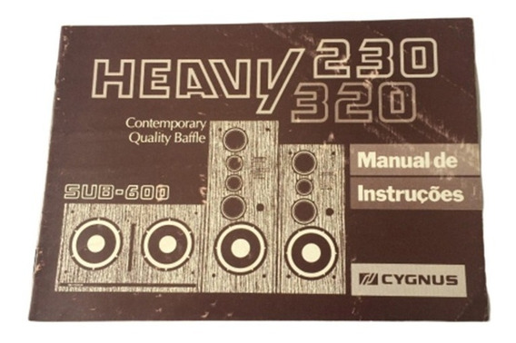 Raro Manual Cygnus Heavy 320 230 - Formato Digital!!