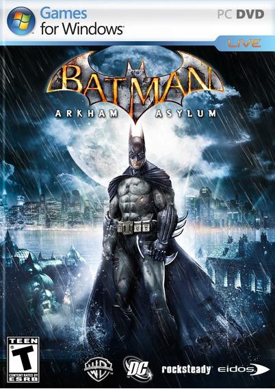 Batman Arkham Asylum Pc Jogo Game Midia Fisica (dvd)