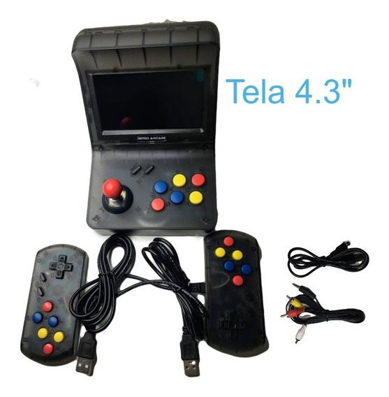 Video Game Retro Arcade Mini Fliperama Tela 4.3 Milhares Jog