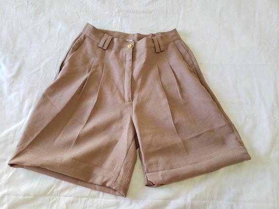 Short Bermuda Pinzada Pollera Pantalon Cintura Alta Talle L