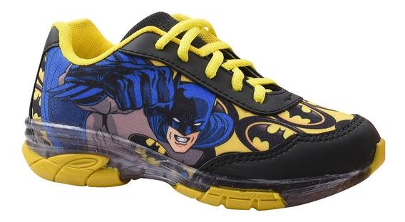 Tênis Juvenil Masculino Batman Com Luz.