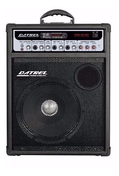 Caixa De Som Amplificada Multiuso 10 100w Bluetooth Usb Fm