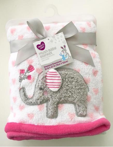 Manta Elefantinho Rosa Parent