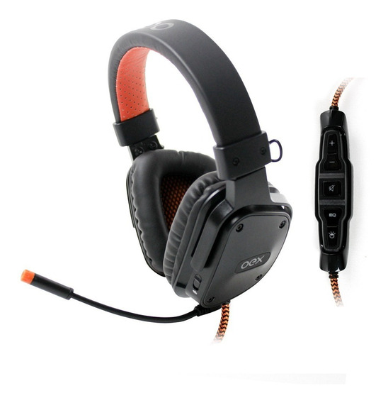 Headset Shield Preto Surround 7.1 Controle Multifuncional