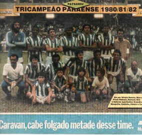 Paysandu Tricampeão Paraense 1980/81/82 - Pôster Da Placar