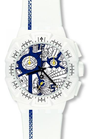 Relógio Swatch Street Map Blue Suiw408