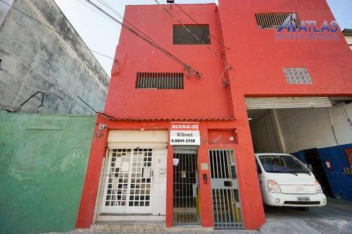 Kitnet Com 1 Dormitório Para Alugar, 15 M² Por R$ 700,00/mês - Canindé - São Paulo/sp - Kn0025