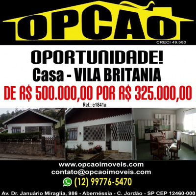 Vila Britania De R$ 500.000,00 Por R$ 325.000,00! - C1841a