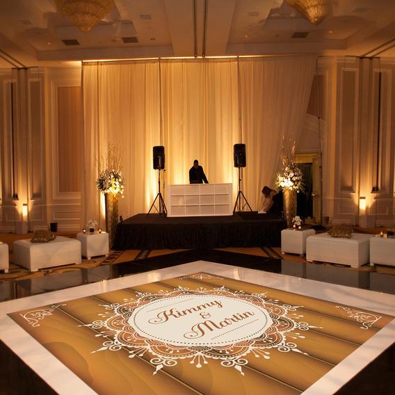 Pista De Dança Para Casamento Rústico Madeira Ps32 - 5x5m