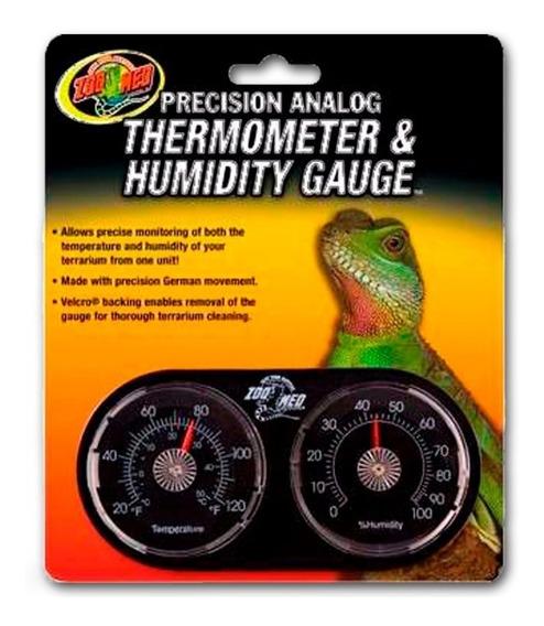 Zoomed Termômetro Analógico Mede Umidade Para Terrário Th-22