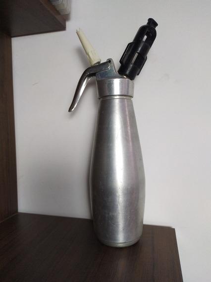 Garrafa Profissional Chantilly 1/2 Aço Inox Original Usada