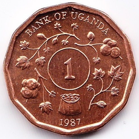 Uganda Moneda 1 Shilling 1987 Km 27 Unc Sin Circular
