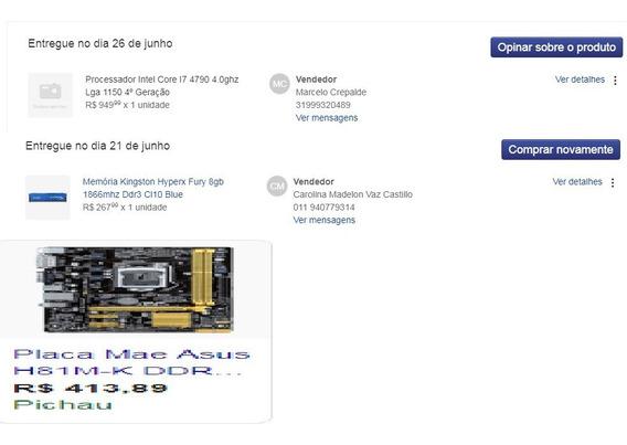 Kit Placa Mãe + Processador I7 + 16gb Ram