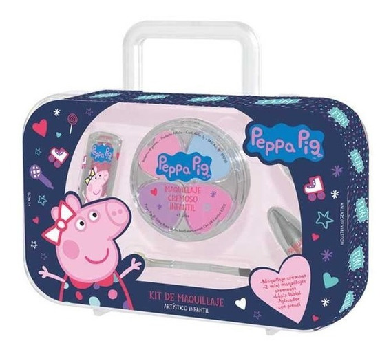 Valija Maquillaje Cremoso Infantil Disney Peppa Pig Original
