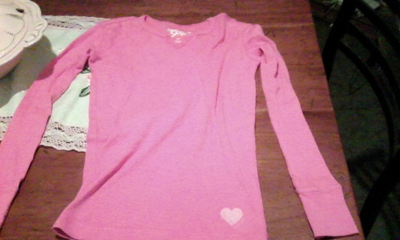 Remera Manga Larga Nena Original Fucsia Gap Talle 12