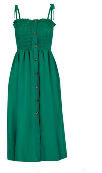 Vestido Verde 15-620 Rinna Primavera-verano 2020