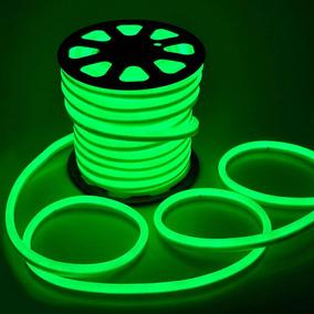 50 Metros Mangueira Verde Led Neon Flex Profissional 110/220