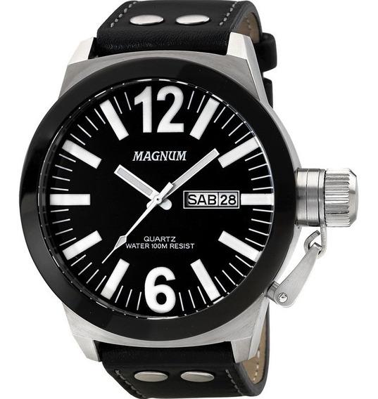 Relógio Magnum Masculino Ma31533t - Puceira De Couro