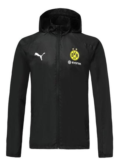 Jaqueta Corta Vento Borussia Dortmund Masculina Preta