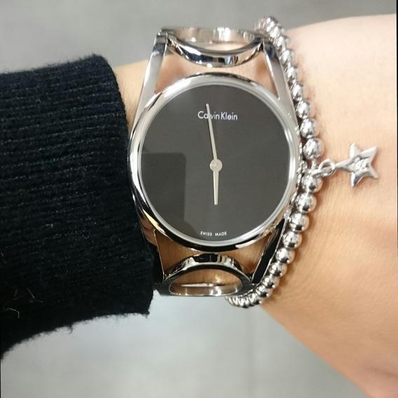 Reloj Dama Pulsera Clavin Klein Mod K5u2s141 Original 100%