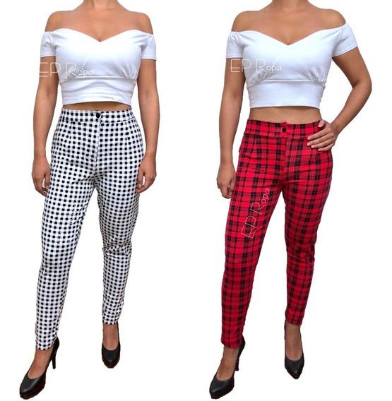 Pantalon Cuadro Mujer Mercadolibre Com Co