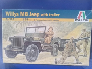 Lote Jeep Willys Mb Trailer - Italeri Italy - 1/35