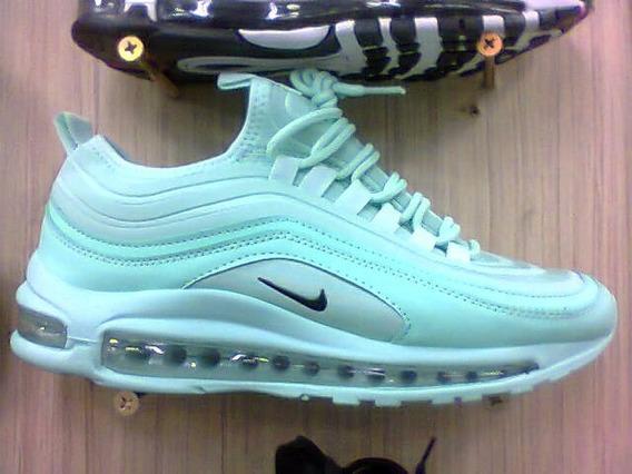 Tenis Nike Air Max 97 Verde Agua E Preto Nº34 Ao 39 Original