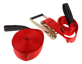 Kit De Slackline Con Gancho Y Trinquete De Color Rojo
