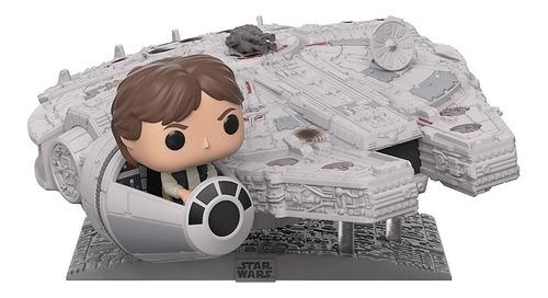 Boneco Funko Pop Star Wars Han Solo E Millennium Falcon 321