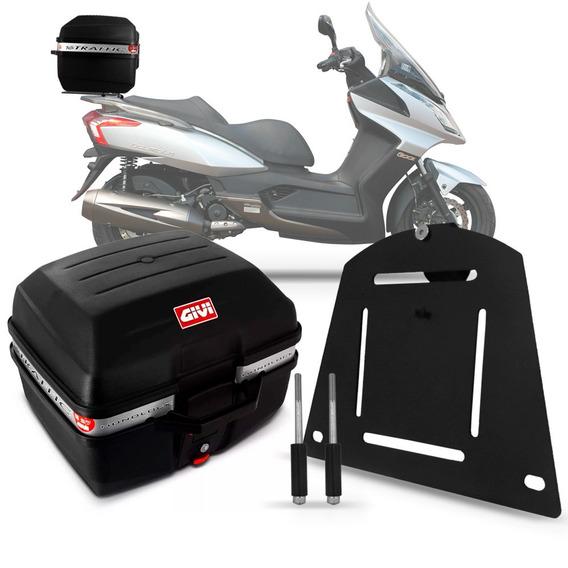 Baú Moto 27 Litros Givi + Suporte Bagageiro Kymco Downtown