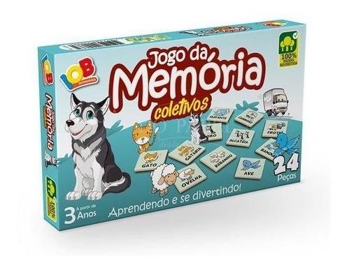 Imagem 1 de 4 de Jogo Da Memória Coletivos - Brinquedo Educativos - Iob Brinq