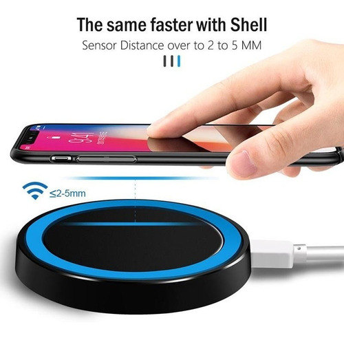 Cargador Carga Inalámbrica Rápida Samsung iPhone Huawei LG
