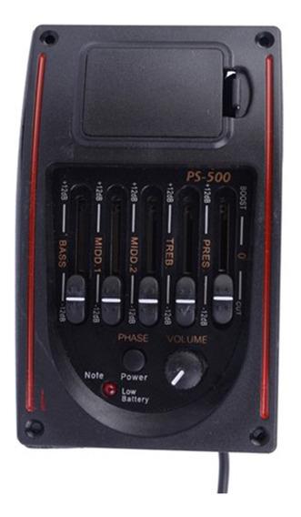 Ps-500 Equalizador De Guitarra Acústica De 5 Bandas Preamp