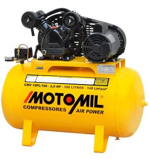Compressor De Ar 10 Pés 100 Litros 110v E 220v Pintura Cm1