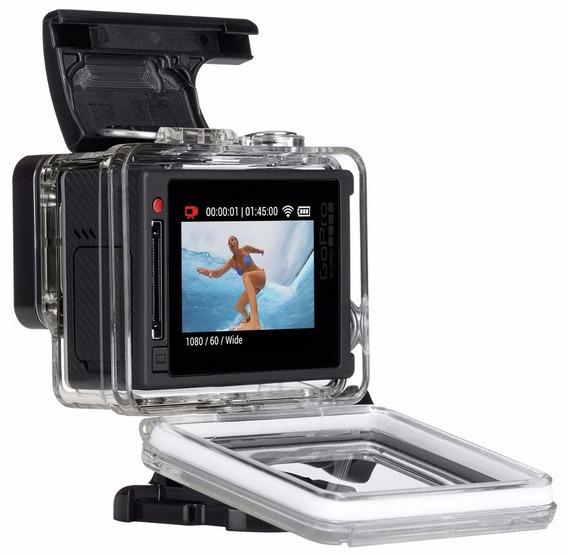 Kit Película Tela E Lente Gopro Hero4 Go Pro Silver Lcd Case