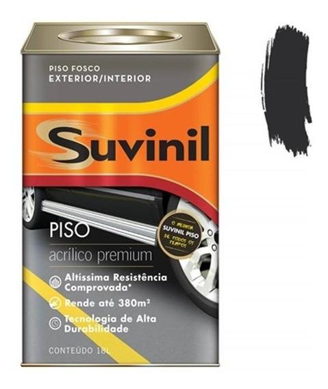 Tinta Acrílica Premium Fosca Para Piso Preto 18 Litros