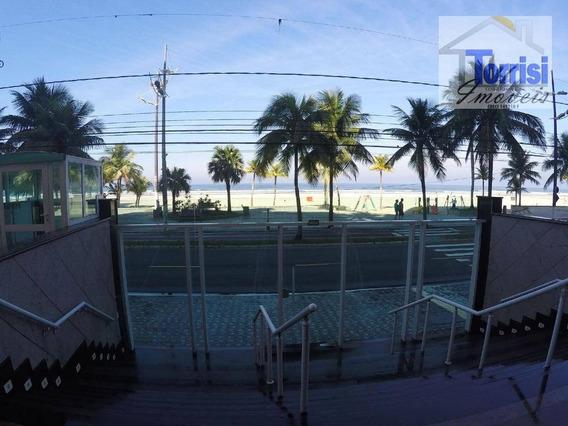 Apartamento Em Praia Grande, Vista Para O Mar, 02 Dormitórios Sendo 01 Suíte, Aviaçao, Ap2380 - Ap2380