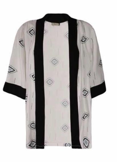 Kimono Feminino Khelf Desenho Losangos - Novo - Original