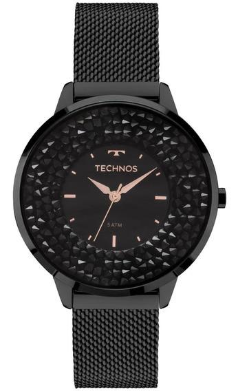 Relógio Feminino Technos 2035mlf/1p 38mm Aço Preto