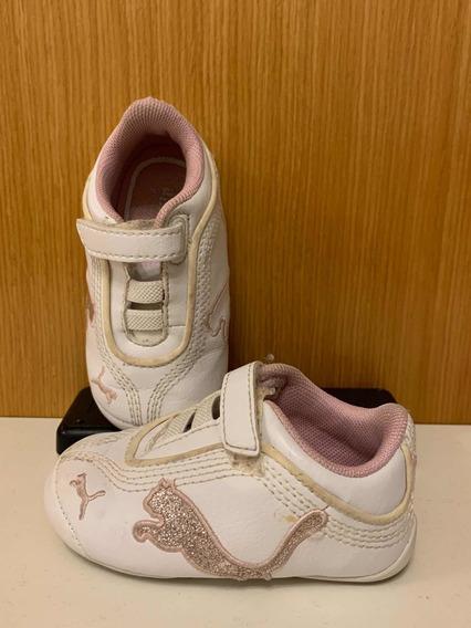 Zapatillas Blancas Puma Niña
