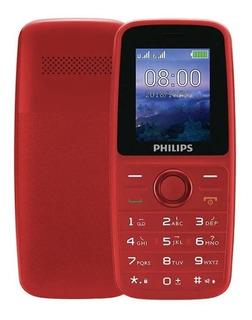 Celular Philips E108 Dual Sim Rádio Fm Menu Inglês/ Espanhol