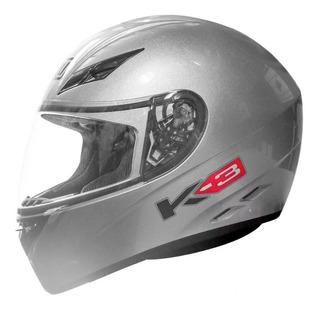 Casco Agv K3 Basic Solid Silver Gris Claro