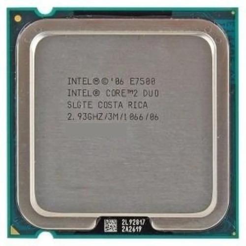 Processador Cpu Core 2 Duo E7500 2.93 Ghz/1066/06 Com Culer