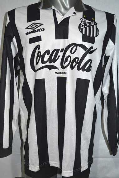 Camiseta Santos De Brasil, Umbro 1995 M/largas. Talle Xl